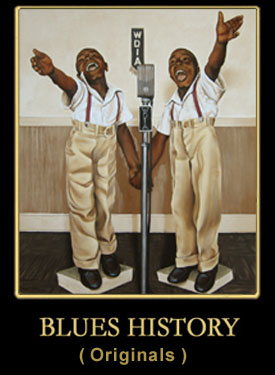 The History of the Blues series of Oil Paintings by Earl Klatzel